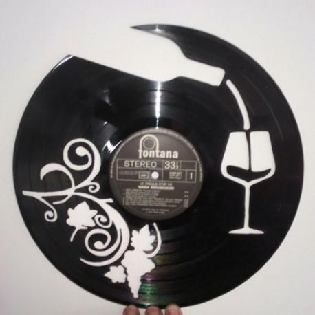 Horloge vinyle vin