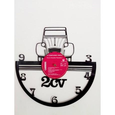 Horloge vinyle 2cv