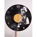 Horloge vinyle thème bluesman trompette 2