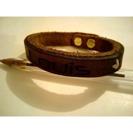 Bracelet cuir brut