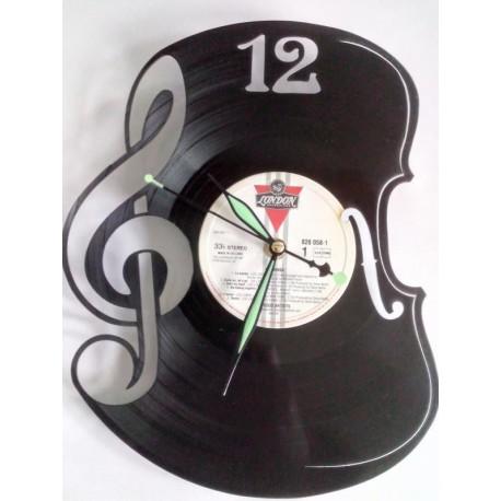 Horloge vinyle musique violon